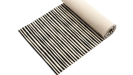 Monochrome stripe runner, available from Sainsburys. PA Photo/Dominic Blackmore.
