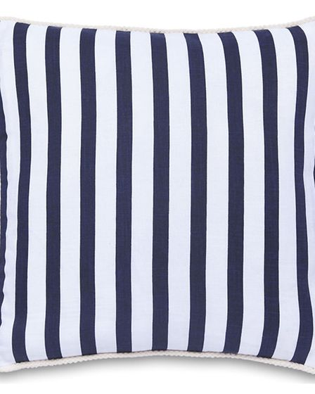 Nautical stripe cushion, available from Dunelm. SPA Photo/Handout.