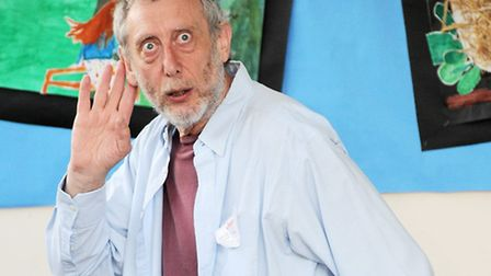 Poet Michael Rosen doing poetry at Muswell Hill Primary School,Muswell Hill, N10