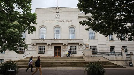Hackney Town Hall, of Mare Street.