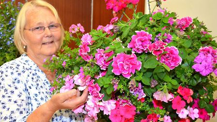 Margaret Crossley at the society's annual summer show. Photo: Mick Howes