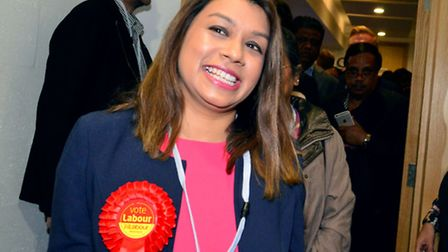 Tulip Siddiq at the election count. Picture: Polly Hancock