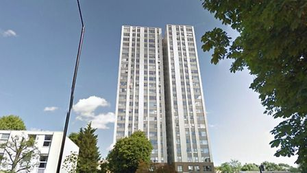The tower block where kidnapped victims were taken. Picture: Google