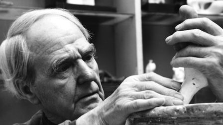 Henry Moore in his studio by Gemma Levine