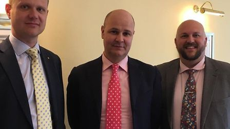 From left to right: James Shipp, Dominic Parravani and Ryan Lincoln, who came up with the Beccles lu