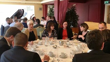 Attendees are treated to a two-course lunch and a guest speaker. Picture: Courtesy of Beccles lunch