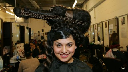 Hair & Beauty show at the Bsix Hackney. Senada Gjokaj, age17