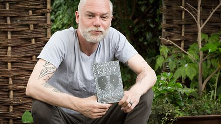 "Author, Jonathan Kemp with his latest book called ""Ghosting""."