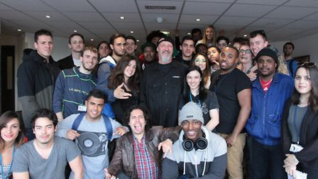 Dave Aron and students from SAE London