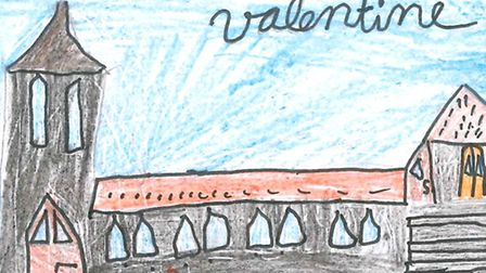Children drew their own interpretation of where they live for a bookmark competition