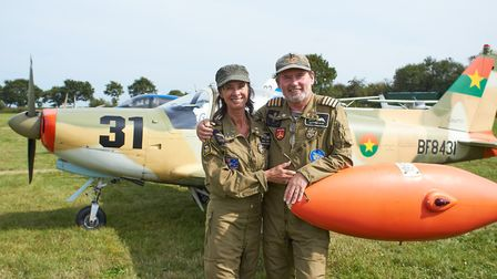 Geoffrey and Suzie Boot at Royal Aero Club Records Racing at Beccles Airfield. Photo: Dan Pangbourne