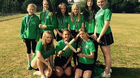The triumphant King Alfred School rounders team
