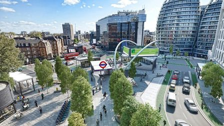 An artist's impression of what Old Street will look like