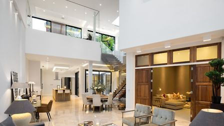 Double height reception room