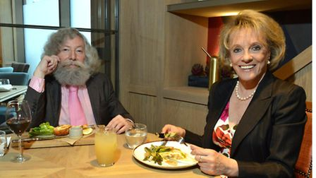 Joseph Connolly and Esther Rantzen at Percy & Founders