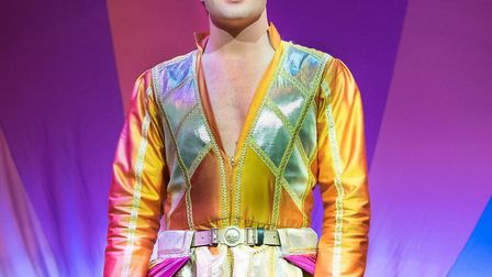 Joe McElderry in Joseph and the Amazing Technicolor Dreamcoat. Picture: Courtesy of Marina Theatre/M