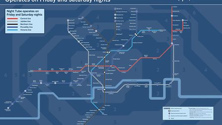 The official new night tube map