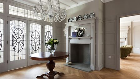 The decorative leaded windows. Picture: Matt Clayton Photography
