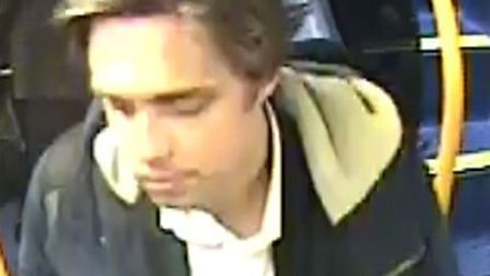 Police later issued this CCTV image of a man they wanted to speak to in connection with the incident