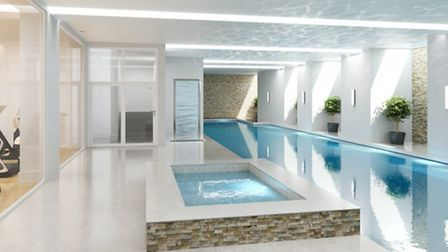 One of the features of the property is its swimming pool