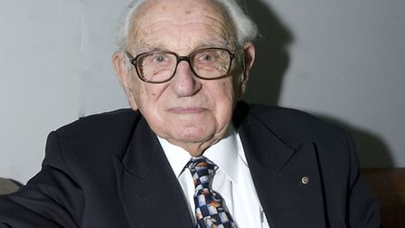 Sir Nicholas Winton at Hampstead Theatre in 2008. Picture: Nigel Sutton.