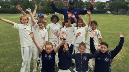 The victorious Hampstead girls
