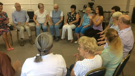 Lizzie Stanley leads a dance session at the Marina Theatre in Lowestoft. Pictures: Joe Randlesome