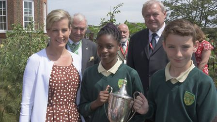 The Countess of Wessex visits Southwold School. Photo Grant Smith