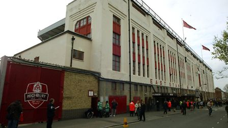 Tthe East Stand at Highbury, former home of Arsenal