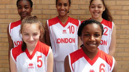 The girls selected for the national basketball team