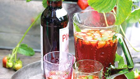 Make an exotic Pimms with homegrown strawberries and kumquats