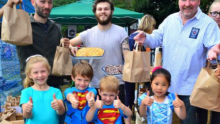 Castlehaven community picnic 25.07.15. From left co-organiser Gavin Frenback and Guilliame from The