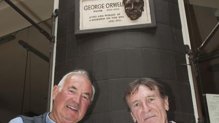 Re-dedication of George Orwell Plaque at South End Green by his son Richard Blair (pictured with Dav