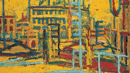 Mornington Crescent Summer Morning 1966 by Frank Auerbach