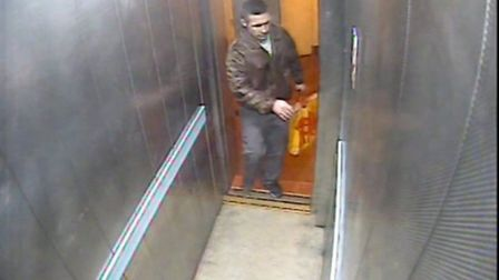 Paul O'Shea leaving the flat after the murder