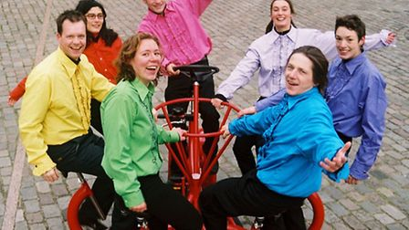 The strange bike used by The Yard theatre company in This is What Democracy Looks Like!