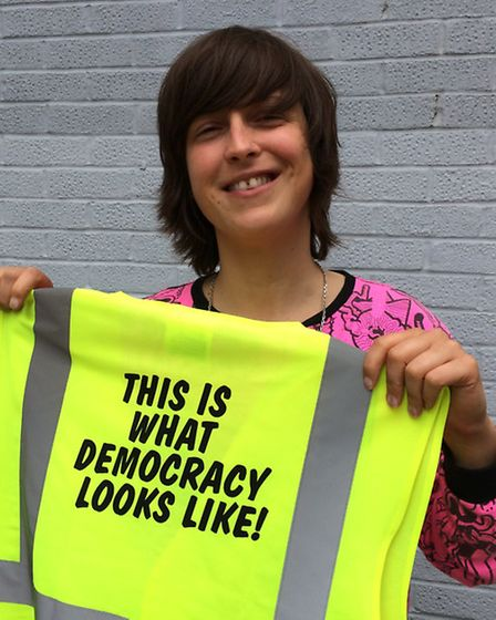 Ellie Harrison who came up with the idea for This Is What Democracy Looks Like