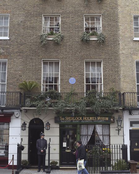 The Sherlock Holmes Museum in Baker Street, London based at the detective's fictional address, is on