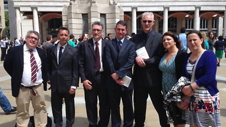 Staff who treated 7/7 victims at the Royal Free attend the memorial event at St Paul's Cathedral tod