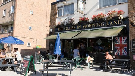 A general view of the Globe in Morning Lane pub in Hackney.