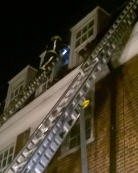 58 firefighters tackled the blaze in York Rise, Dartmouth Park, on Saturday night. Picture: London F