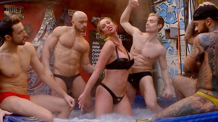 Amber, centre, in 'Dressed as a Woman', who is undergoing a sex change