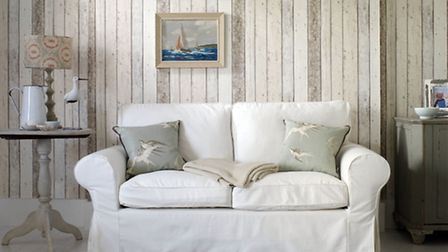 Wood Panelling wallpaper by Albany, currently reduced to �11.99 from �19.99 per roll, available from