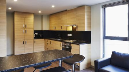A standard kitchen-diner in the St Pancras Way flats