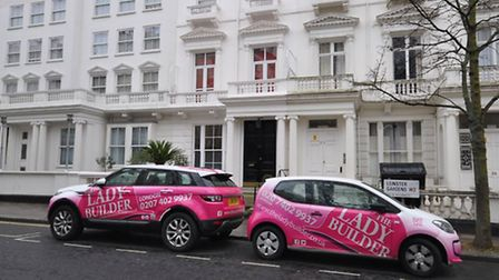 The Lady Builder's signature pink cars