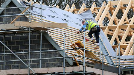 The number of new homes being started by builders in England fell at its steepest rate for three yea