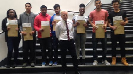 Mark Emerson and AS pupils from the City Academy