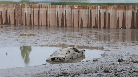 The Mark 3 Ford Cortina found during the dredging of the Model Boating Pond for the dams project on