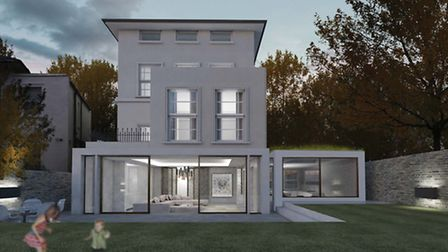 A visualisation of the proposed rear extension