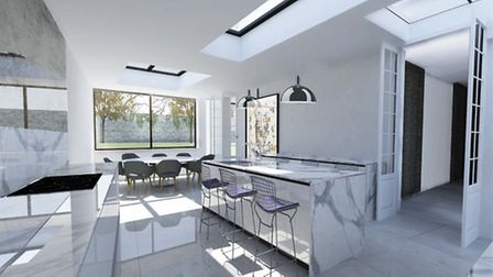 Visualisation of the proposed new kitchen